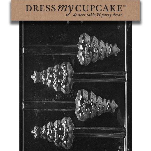 Dress My Cupcake DMCC421 Chocolate Candy Mold, Christmas Tree Pretzel, Christmas