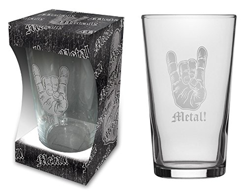 Teufel caracteres patatas tenedor cerveza cristal/Beer Glass Heavy Metal–pinta 570ml
