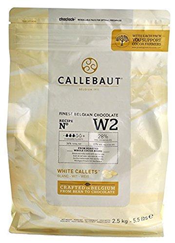cioccolato bianco W2 28% burro di cacao callebaut 2,5 Kg(callets)