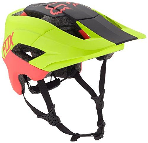 Fox hombre metah Graphic–Casco para bicicleta, hombre, color Flo Yellow, tamaño large/extra-large