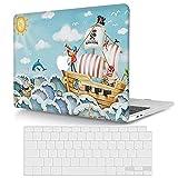 ACJYX Compatible con Funda MacBook Air 11 Pulgadas Modelo A1370 & A1465,Plástico Duro Cubierta Carcasa Protectora con Cubierta de Teclado para Mac Air 11,6 Pulgadas - Barco Pirata