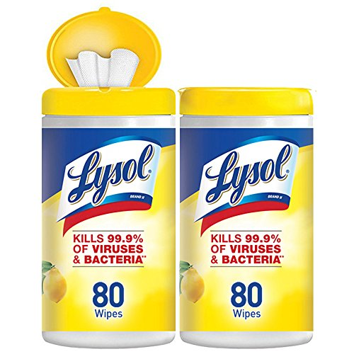 Lysol Disinfecting Wipes, Lemon & Lime Blossom, (80 count pack of 2)