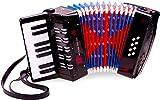 New Classic Toys Instrument à Vent pour débutants Accordéon Noir avec Le Livre de Musique