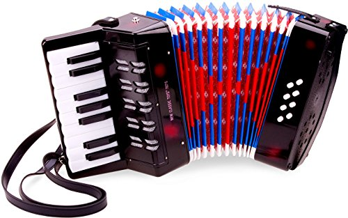 New Classic Toys Accordion with Music Book for Toddlers 3 Years Old Boys and Girls Baby Gifts, Kids Musical Instruments for Childrens Three Year Old