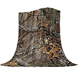 CosyBright Real Froest Tree Lightweight Warm Luxury Throw Blanket Fannel Fleece Bed Blanket Camo Super Soft Reserviber Blanket for All Season Bed Couch Sofa 50x60 Inch