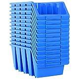 Festnight Behälter für Kleinteile 14 STK. Stapelbar Blau Kunststoff