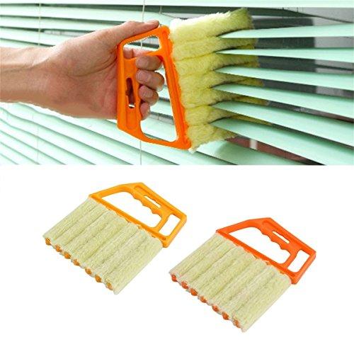 Gugutogo Multifunzionale Veneziana Pennello per finestra Condizionatore d'aria Spolverino Spolverino Pulitore per la polvere Attrezzo pulito per la casa (Colore: casuale)