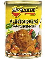 Abricome - Albóndigas con guisantes - Saludable, fresco, natural - 420 g