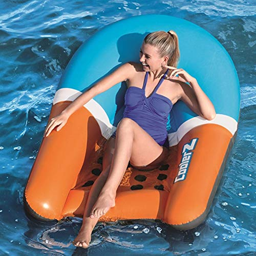 Inflatable Pool Float, Floating Row Backrest Recliner Water Inflatable Bed Summer Beach Water Toy for Adult Kids(47.265inch)
