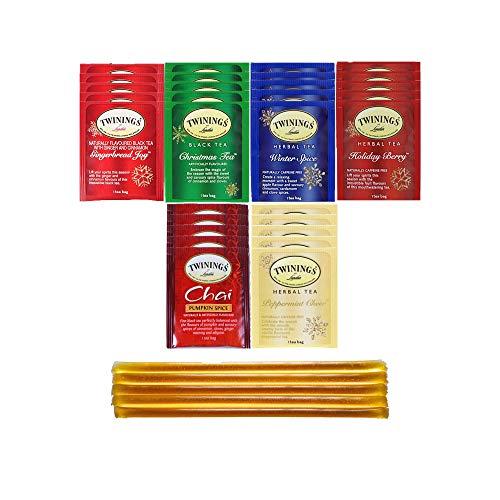 Twinings Black & Herbal Seasonal Tea Bag Holiday Variety Gift Box, Winter Flavors (36 Count)