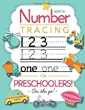 Number Tracing Book for Preschoolers and Kids Ages 3-5: Trace Numbers Practice Workbook fo...