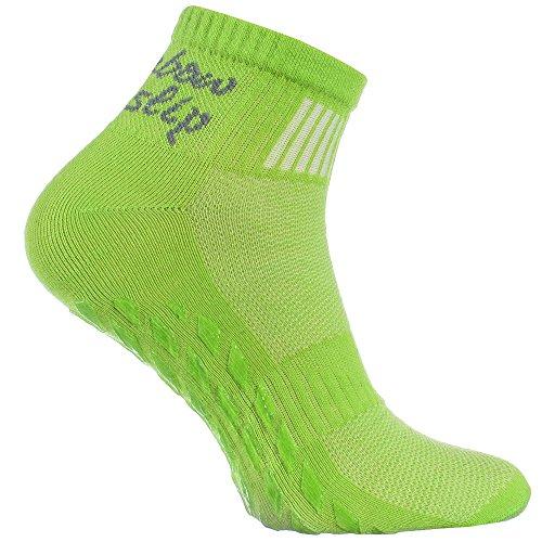 1 Paar grün Anti-Rutsch-Socken mit ABS-System, ideal für solche Sportarten,wie Joga,Fitness,Pilates,Kampfkunst,Tanz,Gymnastik,Trampolinspringen.Größen von 42 bis 43,atmende Baumwolle
