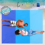 Bosidu Sand Free Beach Blanket, Oversize 80' x 83' Dust Disappear Fast Dry Easy to Clean Waterproof Sandproof Beach Mat Picnic Blankets for Travel, Camping, Hiking and Music Festivals