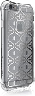 Ballistic, iPhone 6 Case / 6s Case [Jewel Mirage] Laser Etched Metal Design [Silver Design] Reinforced Bumper 6ft Drop Test Case Cell Phone Case for Apple iPhone 6 / 6s - Clear w/ Silver VM Pattern