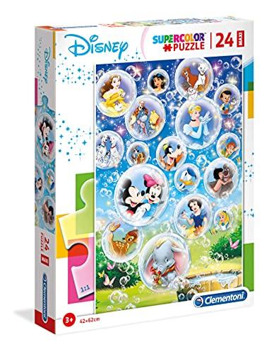 Clementoni- Maxi Puzzle 24 Piezas Disney Classic, Multicolor (28508.2)