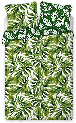 Zirvehome Tropical Island 005 - Juego de cama (funda nórdica de 160 x 200 cm y funda de almohada de 70 x 80 cm)