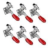 WEKON 6 Stück Schnellspanner Kniehebelspanner GH-201 Knebelklemme Vertikaler Handwerkzeuge Horizontal Toggle Clamp