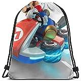 ANGSHI6 Mario Kart Christmas Gifts Bolsas de Cuerdas Mochila Deportiva clásica Unisex Bolsa de Viaje Bolsa de Almacenamiento