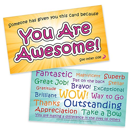 You are Awesome Cards - Appreciation Cards for Teachers, Employers, Friends, Co-Workers, Family (Box of 100)