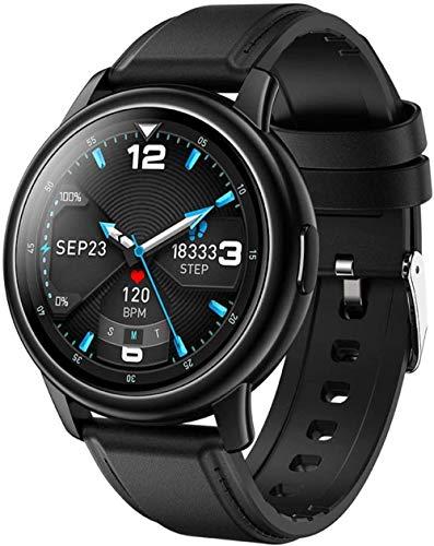 Reloj de pulsera inteligente inteligente pulsera podómetro medidor de actividad, modo multiacción, impermeable, reloj inteligente para hombres y mujeres, color marrón y negro