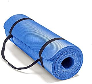 HIGH QUALITY Mat 183x61cm 10mm Thickness Non Slip soft&comfortable for Yoga Exercise Gym Home Picnic Pilates Fitness (NaVy...