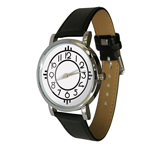 Your Watch Design Unisex Uhr. Erwachsenengröße. Analog Quarz mit Leder Armband. Jugendstil-Design