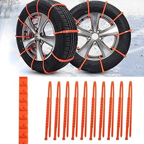 Cadenas de nieve de coche antideslizantes cadenas de neumáticos de nieve ajustables antideslizantes Cadenas de nieve de neumáticos de coche Cadenas para coche/SUV/camiones