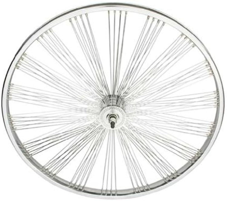 26  Fan 144 Spoke Front Wheel 14G Chrome. Bicycle wheel, bike wheel, Lowrider bike wheel, lowrider bicycle wheel