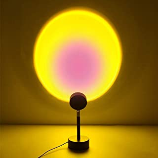 Sunset Projection Lamp,180 Degree Rotation Sun Projection Lamp Led Light, Romantic Visual Mood Lighting Lamp,Daylight Lamps for Selfie/Living Room/Bedroom (Sun)