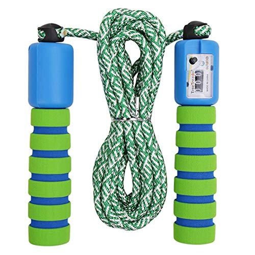 Cuerda para Saltar Ajustable Saltar la Cuerda de Fitness y Mango de Espuma con Contando Cuerda de Salto para Niños Niña Mujer Entrenamiento, Juego Escolar, Actividad al Aire Libre