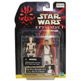 Star Wars Episode I Obi-Wan Kenobi (Naboo) Basic Action Figure with Bonus Battle Droid