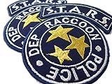 ONEKOOL Parche de policía de la ciudad de mapache de RESIDENT EVIL S.T.A.R.S. Raccoon City – 2 insignias bordadas para planchar