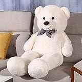 FSN Ours en Peluche XXL Géant Doux 1.2 M Animal en Peluche Poupée Enfants Cadeau pour la Petite Amie de la Saint-Valentin (Blanc)
