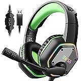 EKSA USB Gaming Headset, 7.1 Surround Stereo Sound, PS4 Headset, PC Gaming Headphones