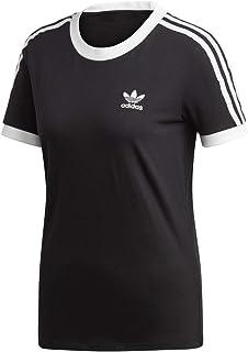 adidas Originals Women's 3-Stripes Tee, Black, Small