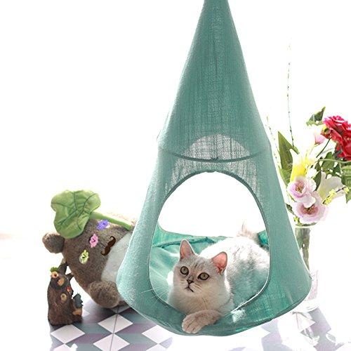 ハンモック 猫 ハンギングベッド キャットハウス 夏用 通気性 取り付け簡単 丈夫 安全 耐荷重7kg 小動物用 ...