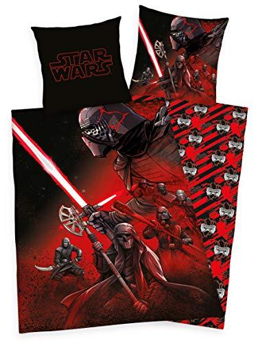 Disney Star Wars 9 Bettwäsche 80x80 + 135x200 cm 100% Baumwolle mit Reißverschluss