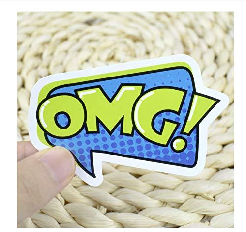 2 Stks Omg Modewoord Sticker Speelgoed Voor Kinderen Pop Stijl Creatieve Lol Stickers Gadget Gift Om Diy Plakboek Laptop Koffer Fiets