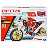 Meccano Erector, 5-in-1 Street Fighter Bike, S.T.E.A.M. Building Kit, for Ages 10 and Up