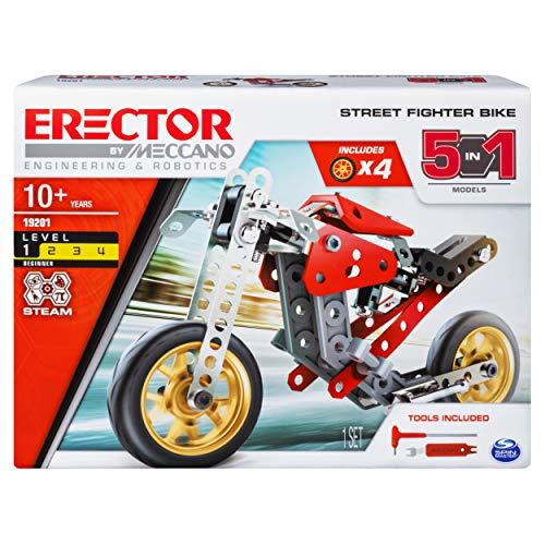 Meccano Erector 5 In 1 Street Fighter Bike S T E A M Building Kit For Ages 10 And Up Buy Online In Bahrain Meccano Products In Bahrain See Prices Reviews And Free Delivery Over Bd 25 000 Desertcart