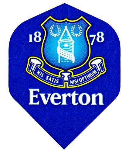 Everton Football Club Dart-Flights (Dartflügel), 3Sets (9Flügel insgesamt) und Punktekarte von Red Dragon