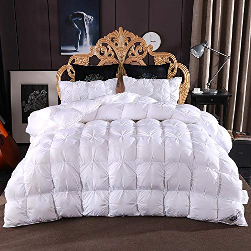 CHOU DAN Duvet Double Bed,Twisted Flower Down Quilt 95% White Goose Down Thickened Winter Quilt French Bread Twisted Flower-200 * 230cm 3500g_white