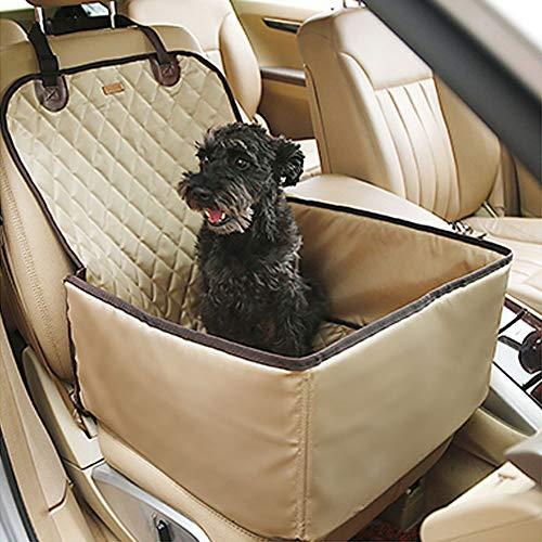 TFENG Hundeschutzdecke, Wasserdicht Autoschondecke für kleine Hunde Kinder, Universal Staubdicht Rücksitzdecke Transport Matte (Beige)
