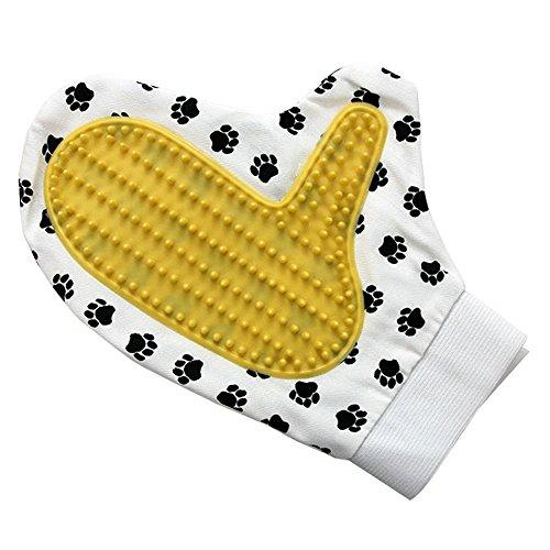Akah Vachtverzorgingshandschoen borstel voor honden, vachtverzorging hondenborstel met rubberen noppen, shampoo borstel massagehandschoen, vachtverzorging hondenborstel, honden haarborstel verwijdert losse haren