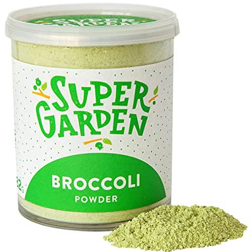 Supergarden brócoli liofilizado en polvo - Producto 100% puro y natural - Apto para veganos - Sin azúcares, aditivos artificiales ni conservantes añadidos - Sin gluten - No OMG
