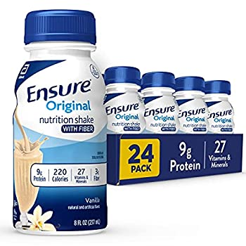 Ensure Original Nutrition Shake with Fiber 9g High-Quality Protein Meal Replacement Shakes 8 24 Count Vanilla 192 Fl Oz