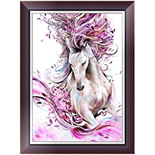 DIY 5D Diamond Painting, Cheng ® 5D Animals DIY Diamond Painting Embroidery Cross Craft Stitch Handmade Home Decor Art Decorate Living Room or Bedroom Full Kits (A)