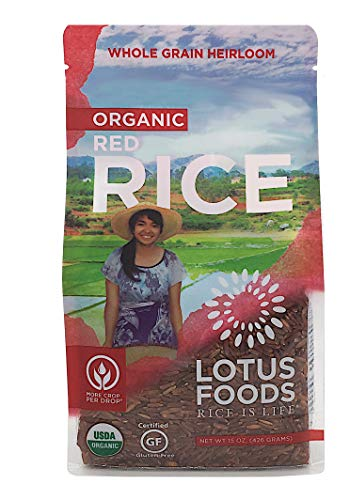 Lotus Foods Organic Red Rice, slightly nutty flavor, 15 Ounce