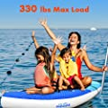 """Zupapa 2019 Upgrade Inflatable Stand Up Paddle Board 6"""" Thick 10 11 FT Kayak Convertible All Accessories Included"""