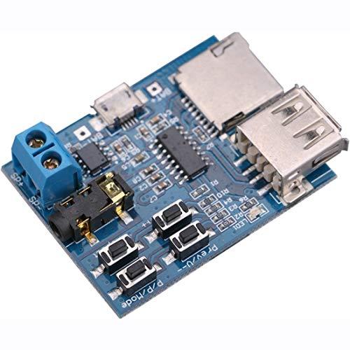 HiLetgo TF Card U Disk Play MP3 Decoder Player Module with Audio Amplifier Audio Decoding Player Module Micro USB 5V Power Supply
